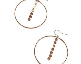 Disco Chain Hoop; Rose Gold Hoop; Hoop Earrings; Statement Earrings; Party Earrings; Disco Chain; Circle Earrings; Hoop Earrings