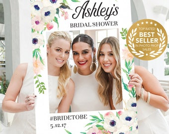 Bridal Shower Photo Props - Trending Now - Anemone - DIGITAL FILE - Photo Prop Frame - Wedding - Printed Option Available