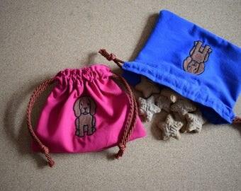 Irish Setter Embroidered Dog Treat Bag, Irish Setter Bag, Dog Treat Bag, Irish Setter Gift, Dog Gift, Setter Dog Bag, Irish Setter Dog Bag