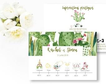 Bevorzugt Programme de mariage fleurs à imprimer Programme mariage JA48