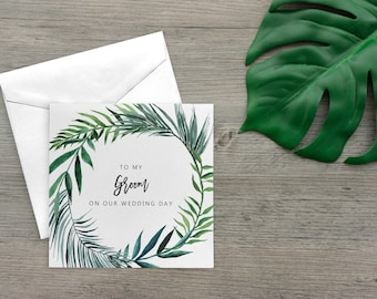 To my Groom Card, Groom Gift from Bride, To my Husband on our Wedding Day Card Groom, To my Wife, To my Bride Card, SKU: WYB005