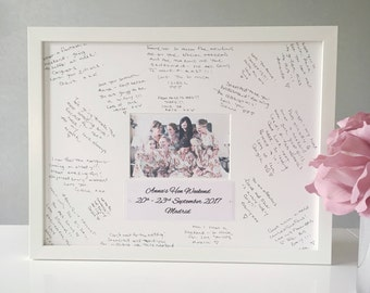 Hen Party Guest Book - Framed Guest Book - Hen Party Gift - Hen Party Accessories - Hen Night Gift - Guest Book Frame - Hen Party Ideas