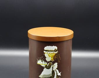 Vintage Sarah Kay Tin, Sarah Kay Canister, Sarah Kay Kitchen Storage, Sarah Kay Collectible