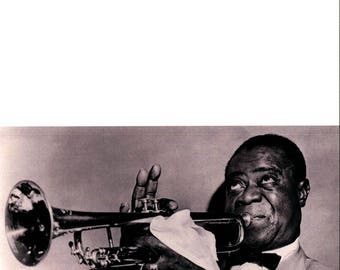 LOUIS ARMSTRONG, Jazz, Musician, Greeting Card NCC879662