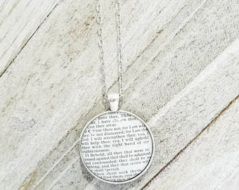 Genuine Scripture Necklace/Vintage Necklace Pendant/Gift for Her/Gift for mom/Gift for Wife/Christian Jewelry/Vintage Jewelry/Custom Jewelry