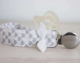 Baby wings, pacifier clip, pacifier clip boy, angel wings pacifier holder, Soothie pacifier clip, boy pacifier clip, Binky Clips, Paci Clip