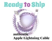 RTS Apple Charger Cable Lightning Cable Wrapped Charger for iPhone iPad iPod, Ombre Purple