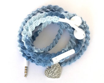 iPhone EarPods, Tangle Free Earbuds, Android Ear Buds Cables Summerfest Collection WICKED COOL Macrame Wrapped Earbuds Lightning Cable iPod