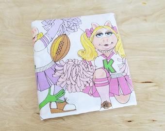 Vintage Miss Piggy And Kermit Pillowcase Miss Piggy Pillow Sham Cheerleading Pillowcase Miss Piggy Pillowcase Muppet Pillowcase Muppet Decor