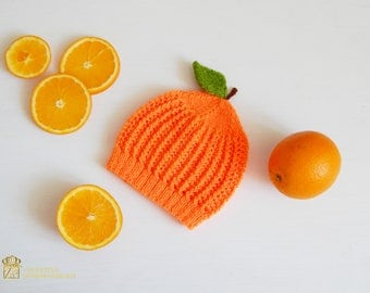 Photography Ideas For Your Junior. Orange Baby Hat. Newborn Photo Prop Girl. Orange Newborn Hat. Newborn Photo Outfit. Orange Baby Costume.