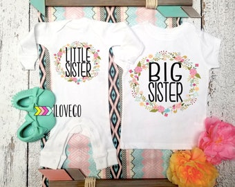 Big Sister Little Sister Outfit  / Big Sister Little Sister / Big Sister Shirt /