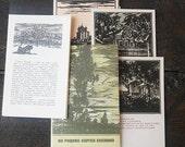 "Postcards Full Set 12 illustrations Graphic arts USSR Vintage 1970 ""Sergei Yesenin's homeland"" Engraving Excerpts from poems Paper Ephemera"