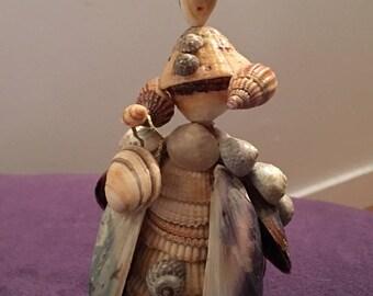 Vintage Sea shell doll