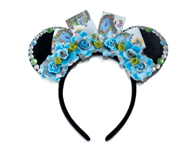 Park Maps Mouse Ears Headband