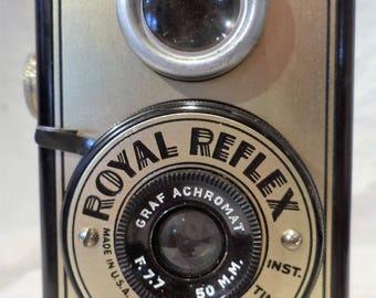 Royal Reflex Camera, Monarch Chicago Camera, Vintage Retro Photography Salvage