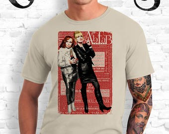 Absolutely Fabulous Sand T-Shirt, Sweetie! Darling! Patsy and Edina. Ab Fab typography quotes. abfab. BBC. Campy. Art. Print. Gay. Drag.