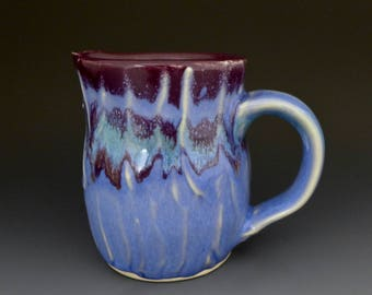 housewarming pottery, blue creamer, cream pitcher, milk jug, handmade creamer, Louisiana pottery, syrup pitcher, small pitcher
