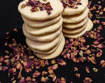 Rosewater Shortbread Cookies