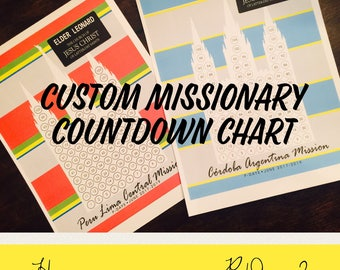 Custom LDS Missionary Countdown Chart