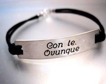 Engraved Silver Bracelet