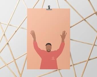 Kanye West I Feel Like Pablo Minimal Poster. Print.