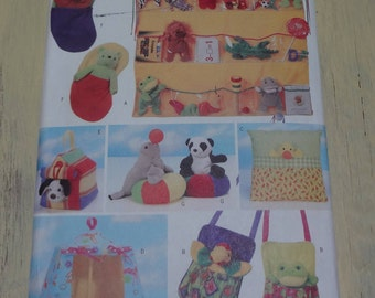 UNCUT Butterick 5507 Bean Bag Animal Pals Accessories PATTERN For YOUR Toys 1998