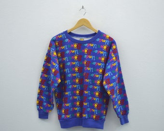 Ken Done Sweatshirt Vintage Ken Done Pullover 80s 90s Ken Done Down Under Vintage Art Sweat Made in Australia Mens Size S