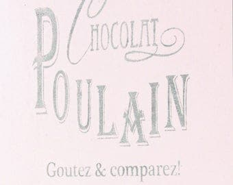 "Wall stencil ""Chocolat Poulain"" by Jeanne d' Arc Living"
