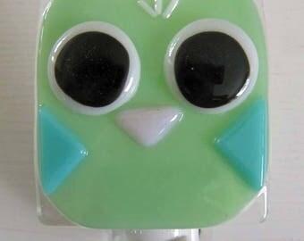 Chloe - Owl: Fused Glass Night Light - Free Shipping!