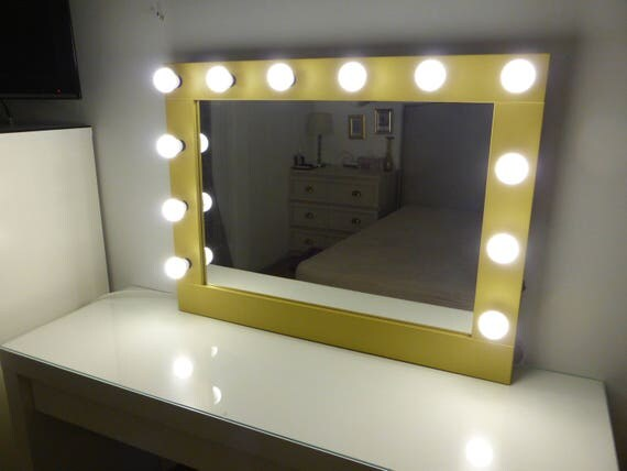 Hollywood Mirror With Lights Vanity Mirror Lighted Makeup - Wall mounted vanity mirror with lights