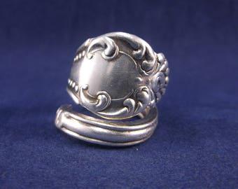 "Spoon Ring 1898 ""Carlton"" Handmade Spoon Jewelry size 8"