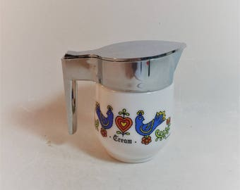 Vintage Gemco Corning Country Festival Pattern Creamer