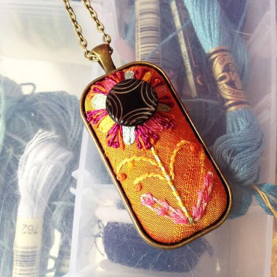 Luella Antique Button Flower Necklace