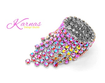 LEADING The WAY KDS™ 2017 Bold Statement Bracelet 8mm Swarovski Crystal *Antique Silver *Karnas Design Studio™ Free Shipping