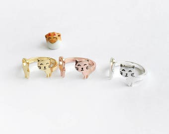 Cat wrap and roll adjustable ring