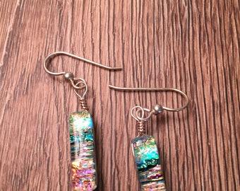 Handmade Fused Glass Earrings