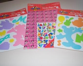 Disney Mickey & Minnie Mouse Stickers Sandylion Sheets New NIP