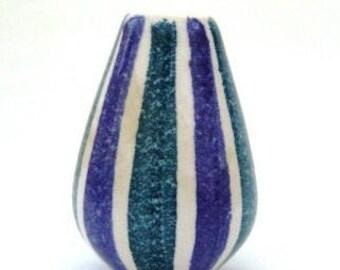 Vintage 1960s Small Flora Gouda Holland zebra pattern vase