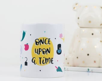 Book Lover Gift - Fairytale mug - Literary Gift - Once Upon a Time - Book Lover Mug - Beauty and the Beast