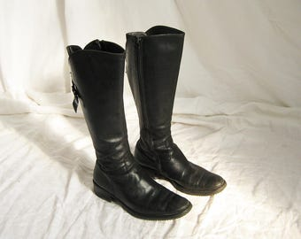 90s Equestrian Style Leather Boots 7 7.5