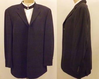 80's Vintage Bachrach Black Dinner Jacket Sport Coat Size 42