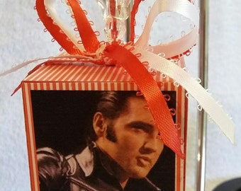 Elvis photo block, Memory  block, commemorative  block, Elvis Presley ornament