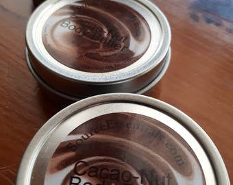 BODY BUTTER  Chocolate Nut/ All Natural /Deeply Hydrating/Ultra Rich/ Men's/ Ladies Body Care