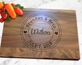 Personalized Cutting Board, Wedding Personalized Cutting Board, Personalized Gift, Wedding Gift, Christmas Gift, Kitchen Decor