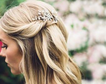READY TO SHIP Everthine Crystal Hair Pins Silver, Wedding Hair Accessories, Hair Combs, Crystal Hair Pins, Bridal Comb, Hair Pins