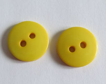 Cute button * round flat and yellow