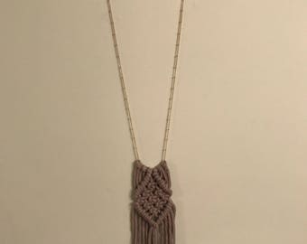 "Boho Macrame Necklace ""The Original Collection"""