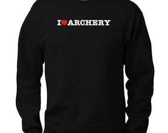 I Love Archery Sweatshirt