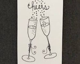 Cheers! hand drawn card