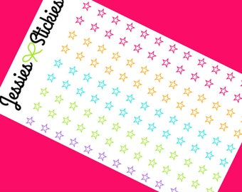 Star Outline Planner Stickers